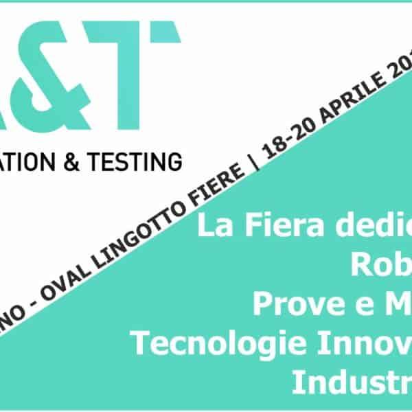 La Fiera dell'Automazione Robotica | Elettrogruppo ZeroUno | Torino| a&t automatic & testing logo fiera torino 2018