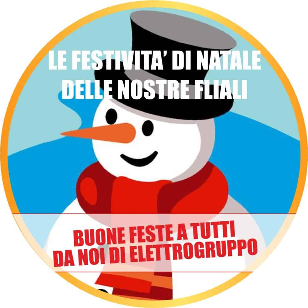 Giorni di Chiusura Natale2019 | Elettrogruppo ZeroUno | Torino | pupazzo di neve