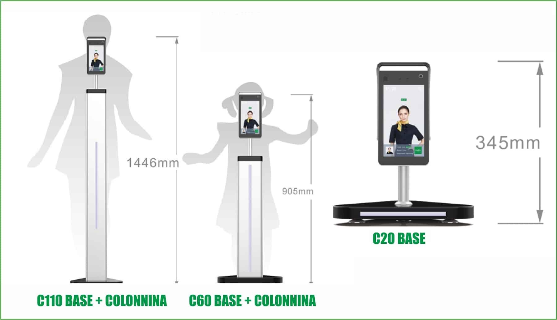 Covid-19 dispositivi di protezione | Elettrogruppo ZeroUno | Torino | tablet e supporto misura temperatura