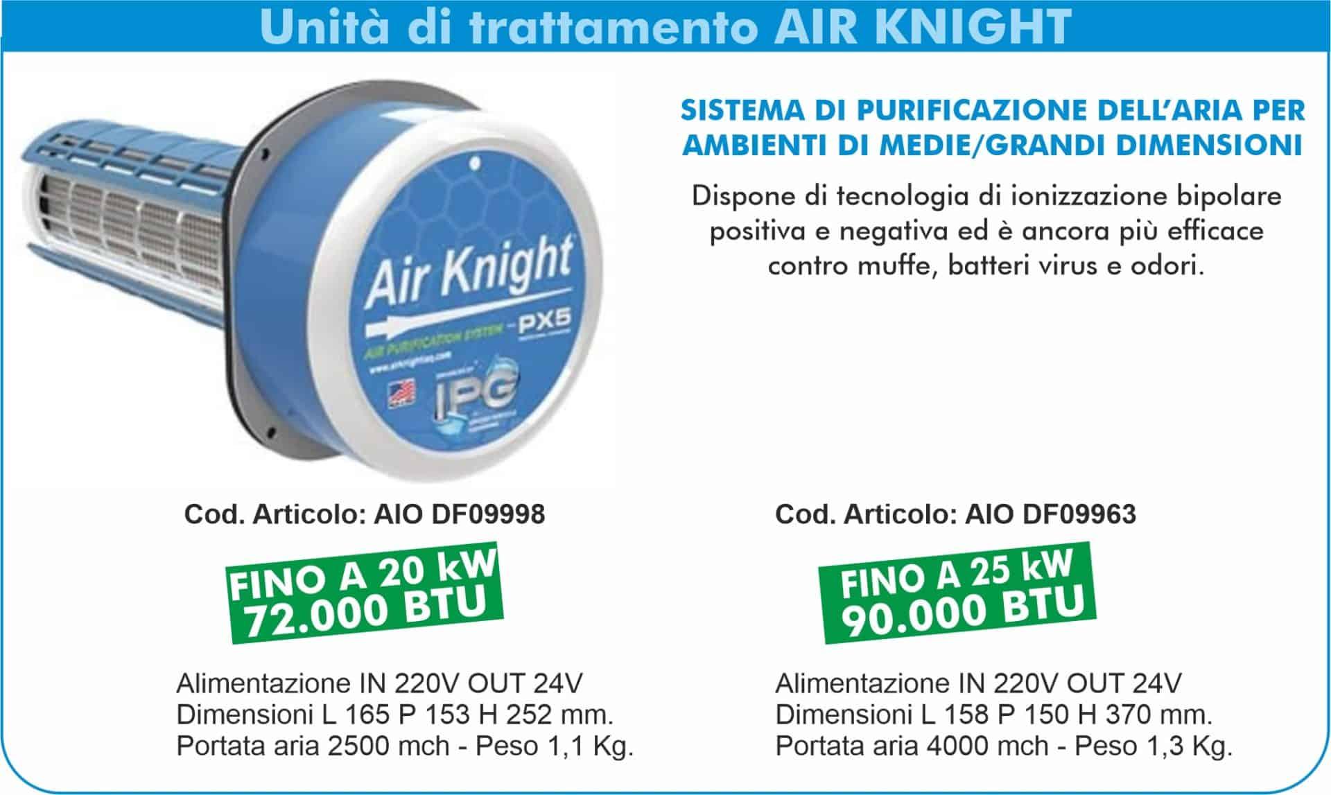 Sistemi di sanificazione attiva Dust Free   Elettrogruppo ZeroUno   TO   unità di trattamento air knight