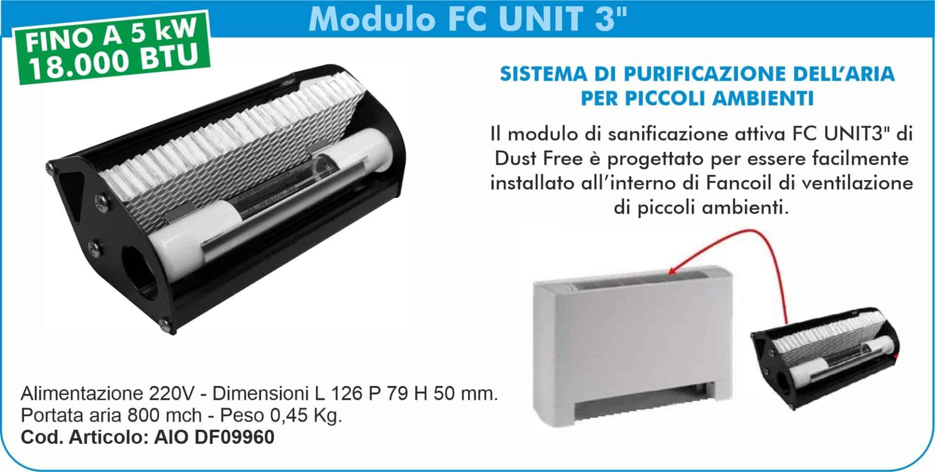 """Sistemi di sanificazione attiva Dust Free   Elettrogruppo ZeroUno   TO   modulo fc unit 3"""""""