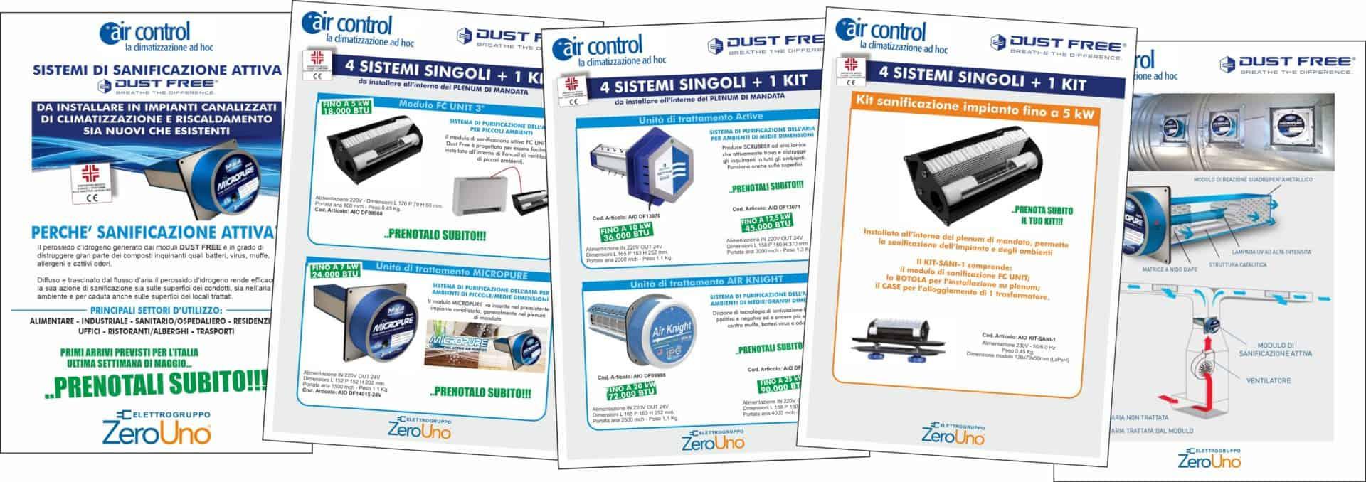 Sistemi di sanificazione attiva Dust Free   Elettrogruppo ZeroUno   TO   SISTEMI SANIFICAZIONE AIR CONTROL