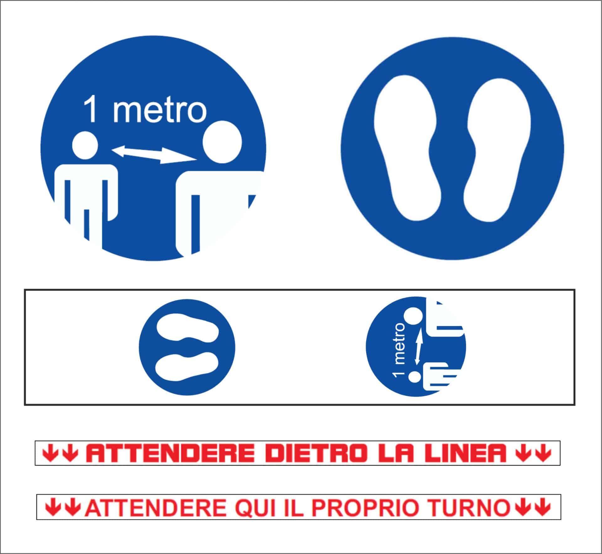 Covid-19 dispositivi di protezione | Elettrogruppo ZeroUno | Torino | attendere dietro la linea