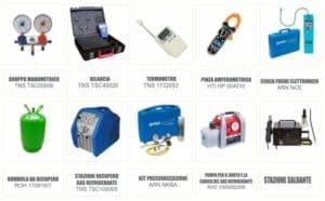 strumenti obbligatori | F-Gas | Elettrogruppo ZeroUno | Beinasco | Torino |||| CODICI DEI PRODOTTI