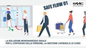 sistemi controllo e gestione code FAAC SAFE FLOW 01