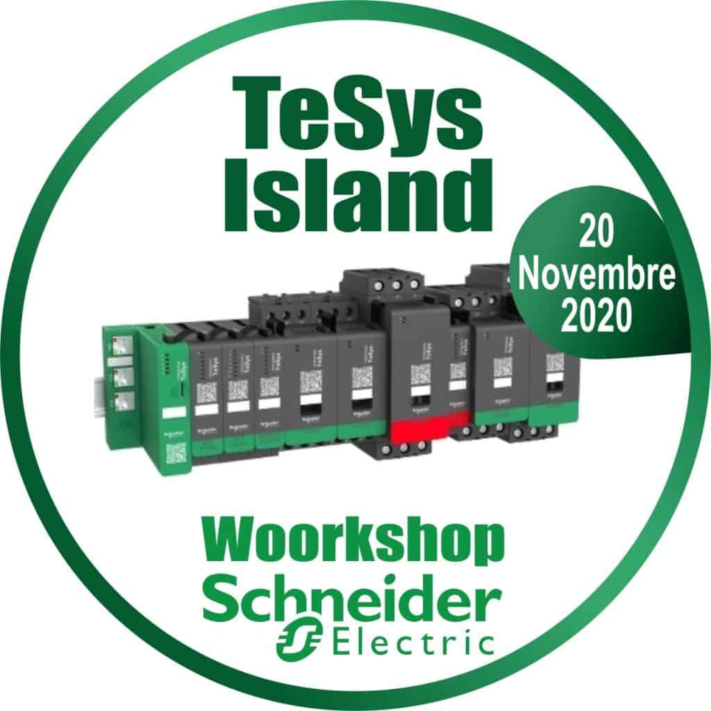 Workshop Schneider Tesys Island | Elettrogruppo ZeroUno | Beinasco | TO | logo corso schneider tesys island