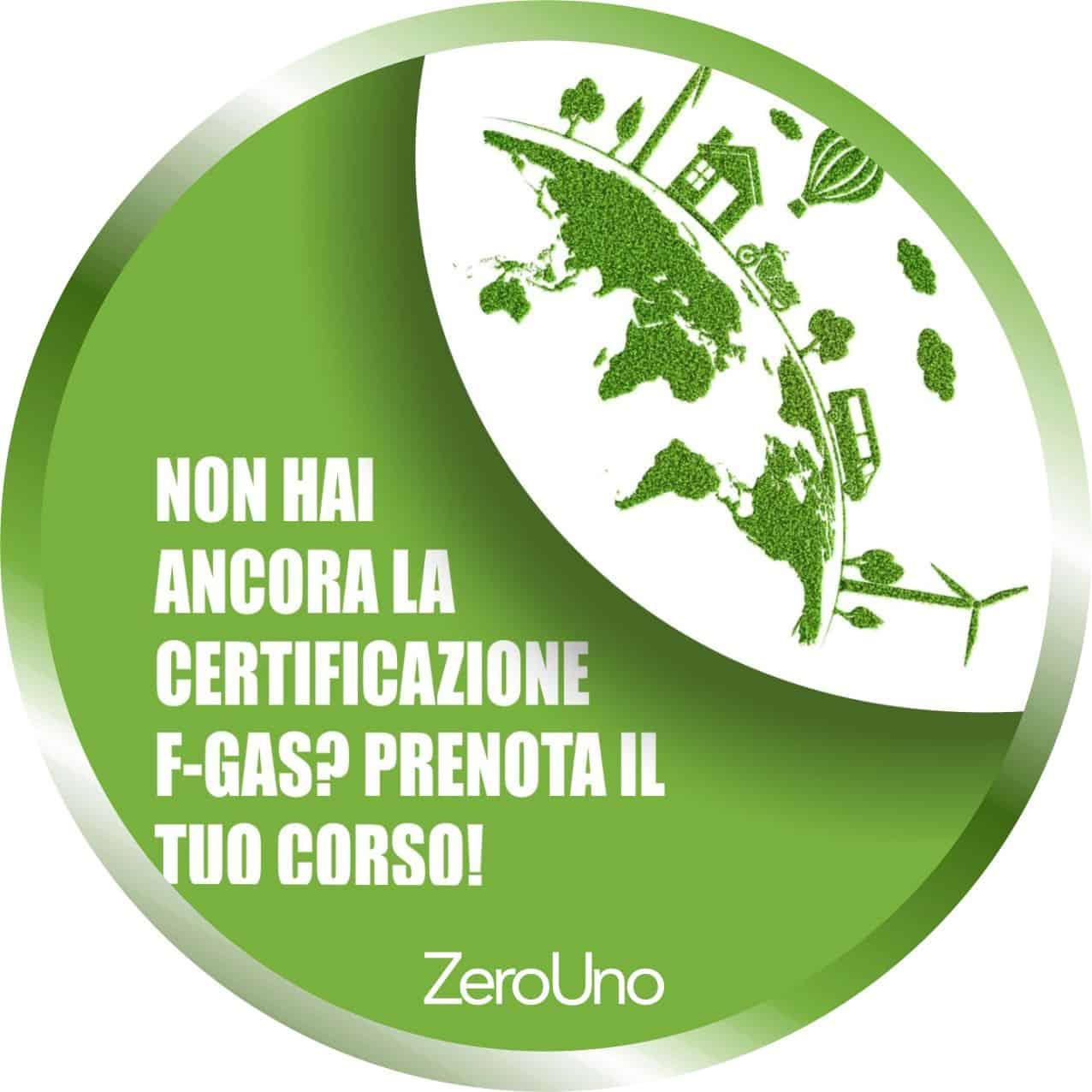 Prenota il corso f-gas!   Elettrogruppo ZeroUno   Beinasco   Torino   disco news prenota corso f-gas