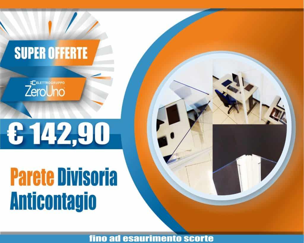 Le Nostre Promozioni   Elettrogruppo ZeroUno   Beinasco   Torino   TO   COVFER OUTLET 01 BARRIERA PARETE DIVISORIA ANTICONTAGIO