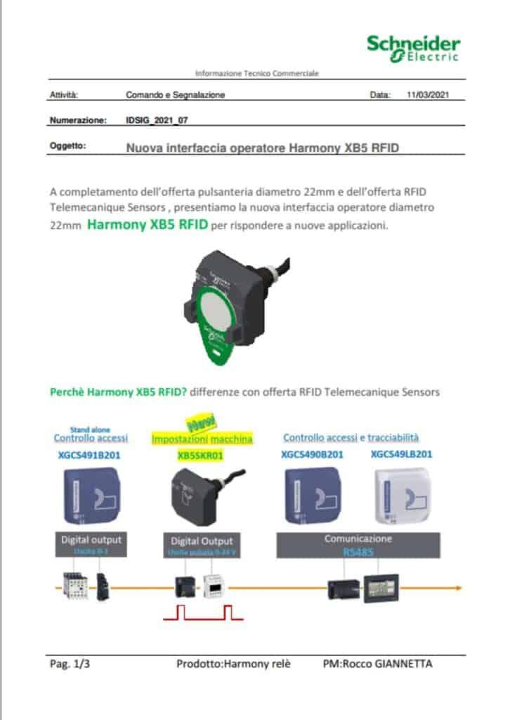 News Automazione   Elettrogruppo ZeroUno   Beinasco   Torino   TO   HARMONY XB5 RFID