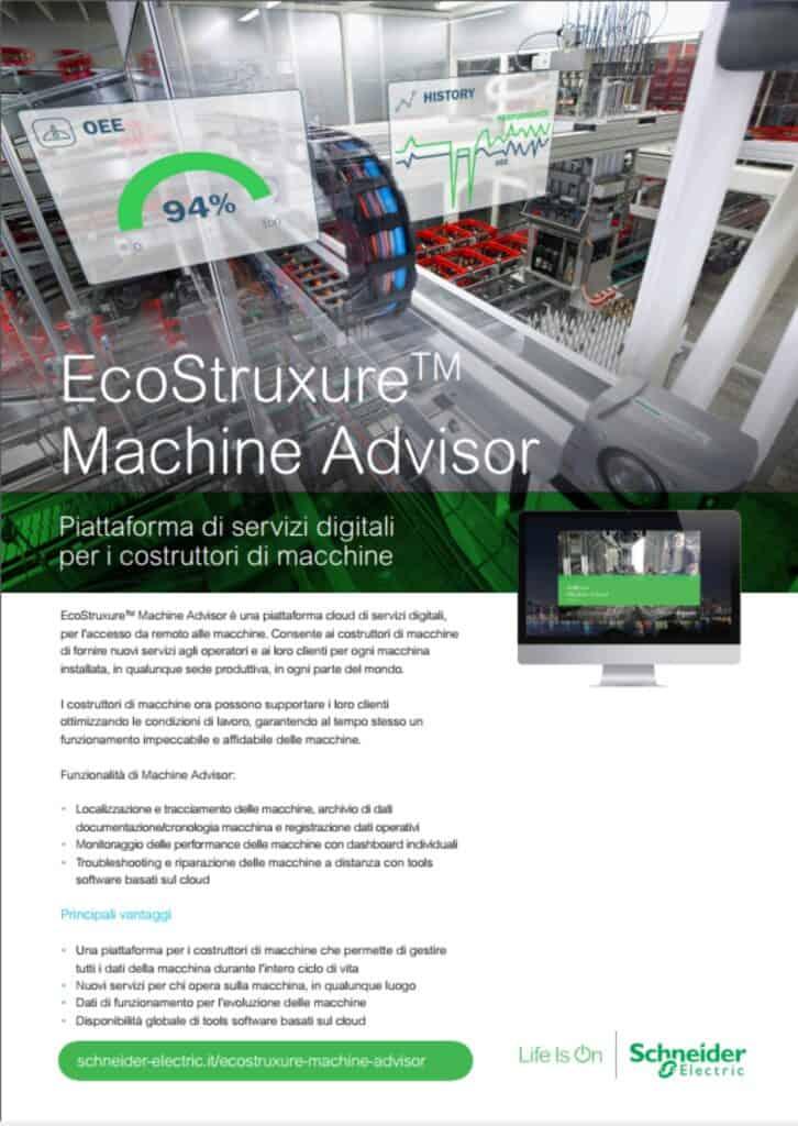 News Automazione   Elettrogruppo ZeroUno   Beinasco   Torino   TO   EcoStruxure Machine Advisor schneider electric