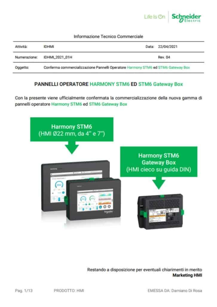 News Automazione   Elettrogruppo ZeroUno   Beinasco   Torino   TO  IDHMI HARMONY STM6 E GATEWAY BOX