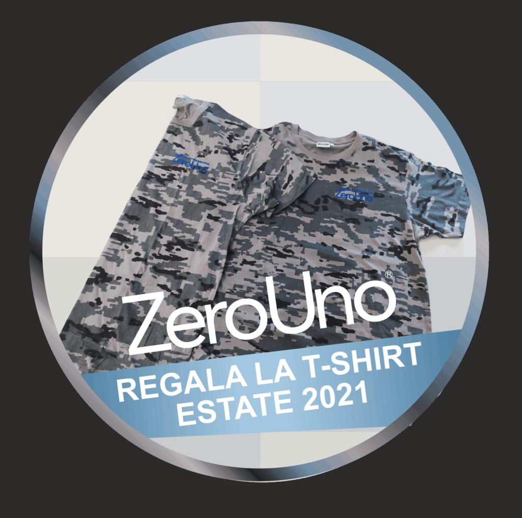 ZeroUno regala T-SHIRT Estate2021 | Elettrogruppo ZeroUno | Torino | T SHIRT MAGLIETTA ZOEROUNO ESTATE 2021