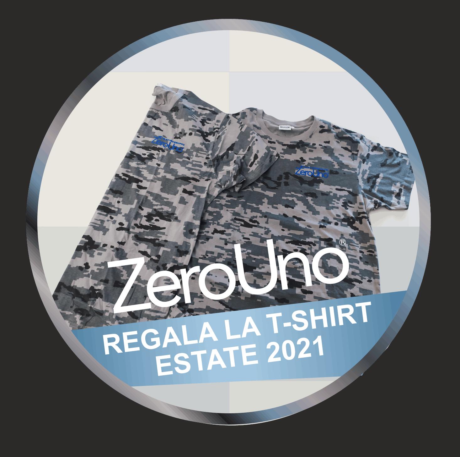 ZeroUno regala T-SHIRT Estate2021   Elettrogruppo ZeroUno   Torino   T SHIRT MAGLIETTA ZOEROUNO ESTATE 2021