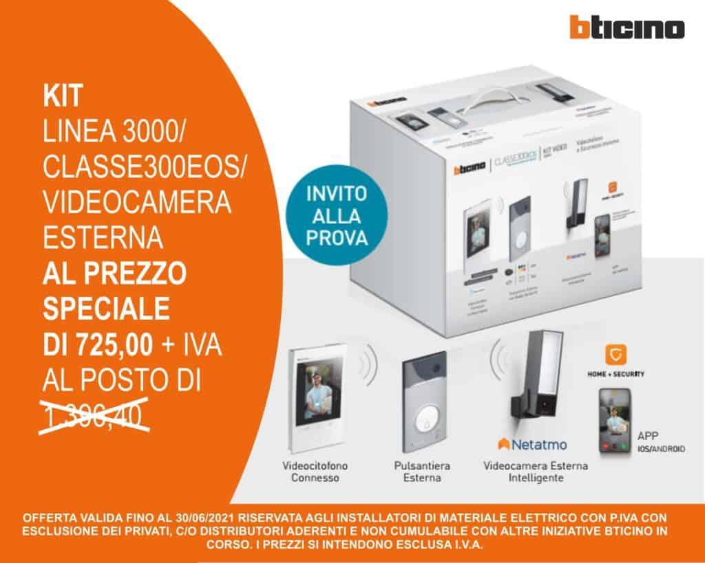 Le Nostre Promozioni   Elettrogruppo ZeroUno   Beinasco   Torino   TO   bticino classe 300 linea 3000 videocamera esterna prezzo speciale materiale elettrico