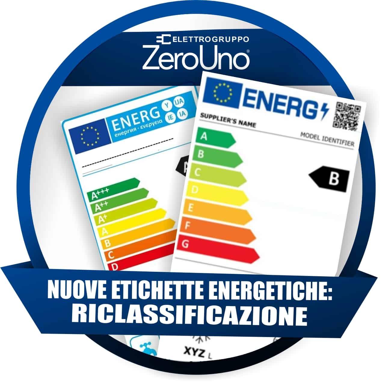 Nuove Etichette Energetiche: Riclassificazione    ZeroUno    Beinasco    T0    RICLASSIFICAZIONE ETICHETTE ELETTRONICHE 2021