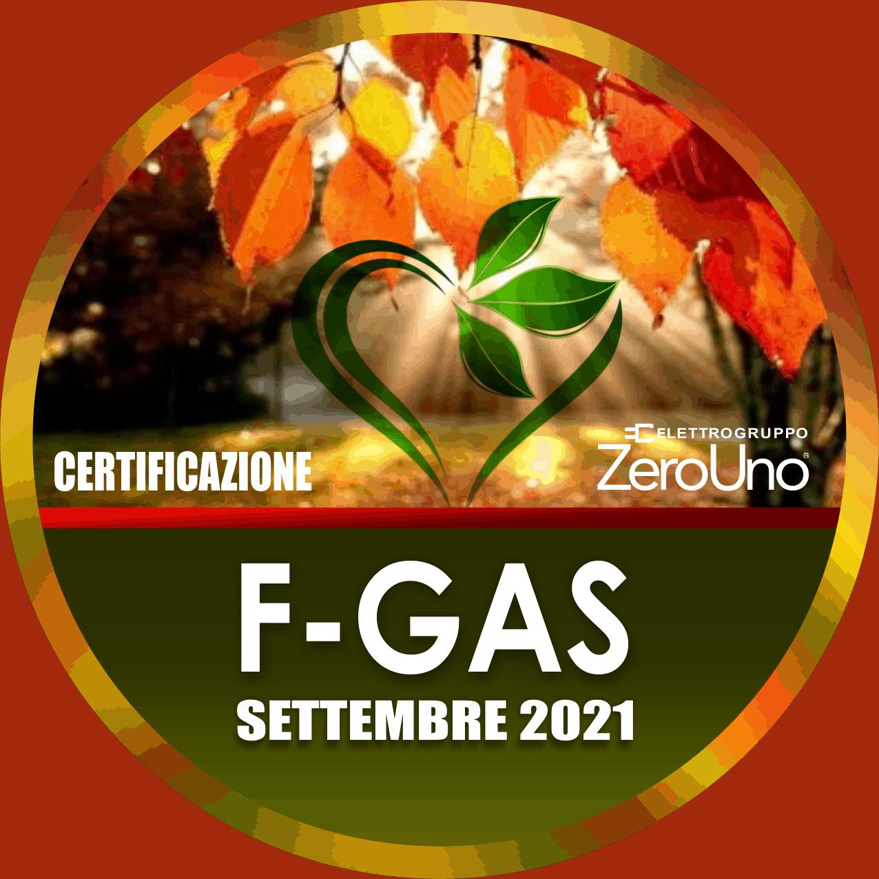 Il patentino F-GAS Settembre | Elettrogruppo ZeroUno | Beinasco | TO | F-GAS CERTIFICAZIONE
