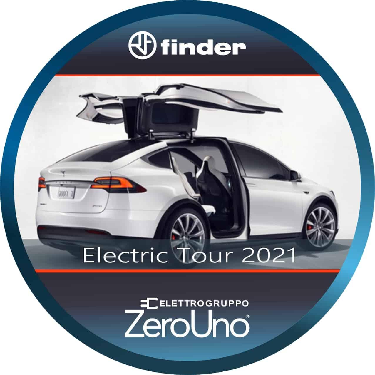 Finder Electric Tour 2021 Tesla    Elettrogruppo ZeroUno    Beinasco    TO   tour finder con tesla da zerouno