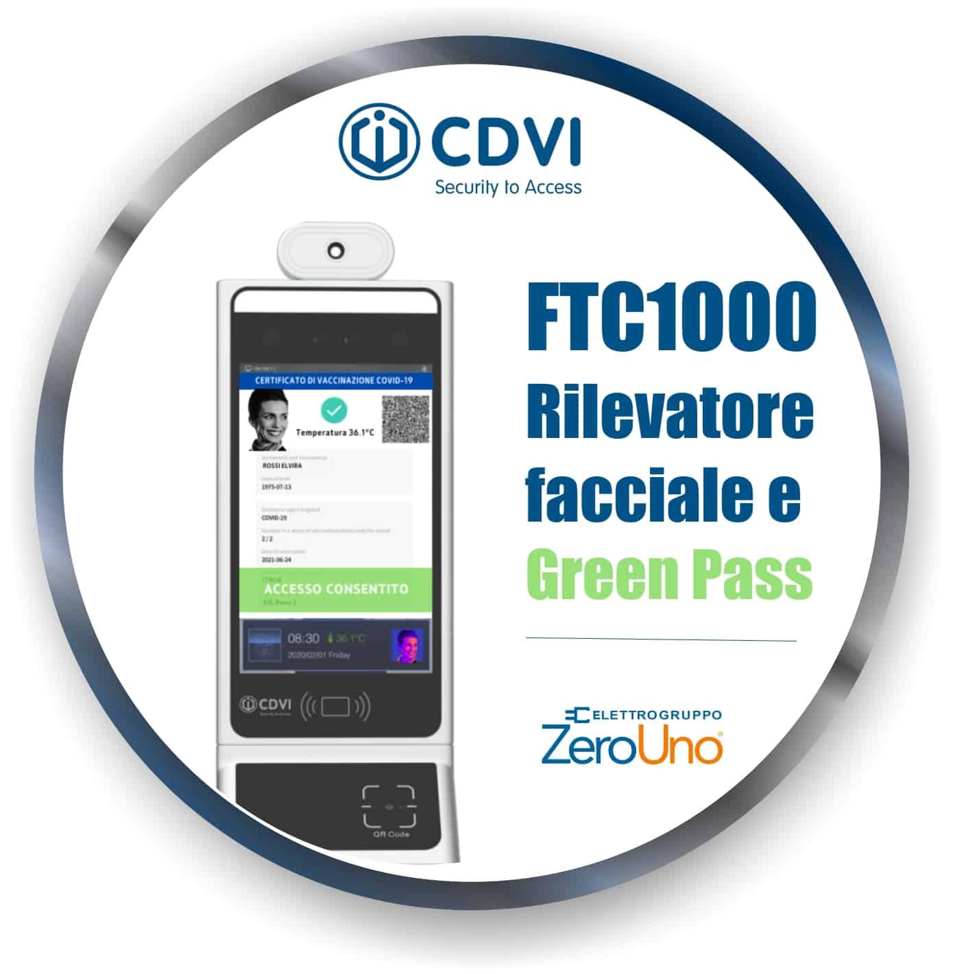FTC1000 Rilevatore Green Pass   Elettrogruppo ZeroUno   Beinasco   TO   RILEVATORE GREEN PASS CDVI COVER